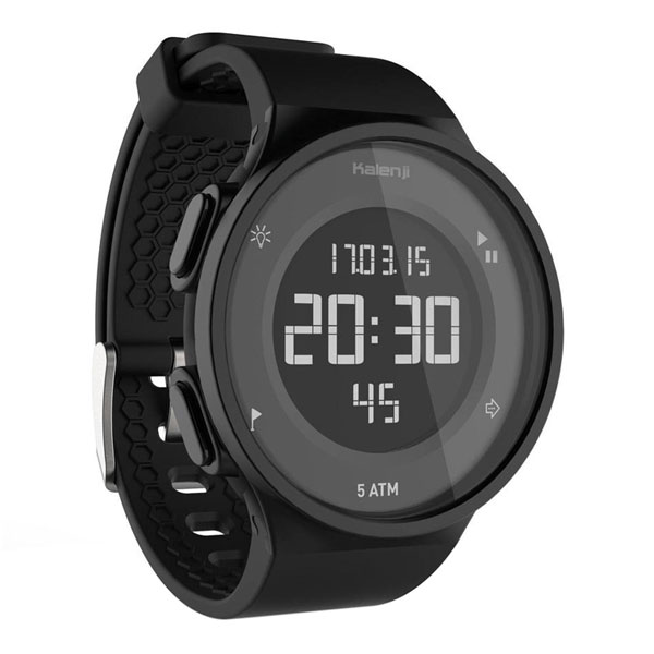Decathlon Kalenji Sports Watch Digital Waterproof Marathon Electronic Watch Black
