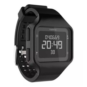 Decathlon Kalenji Sports Watch Digital Waterproof Square Electronic Watch Black