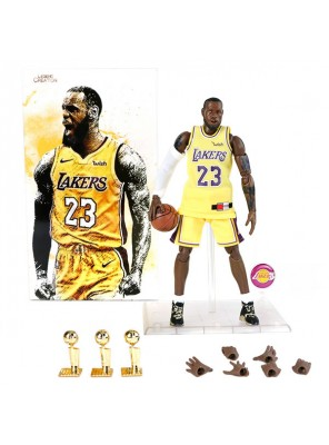 Wholesale NBA Star Lebron James Doll And Three Championship Trophy 1/9 Model