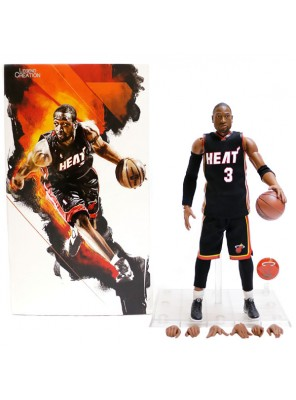 Wholesale NBA Star Miami Heat Wade Doll 1/9 Movable Model Garage Kits Toys