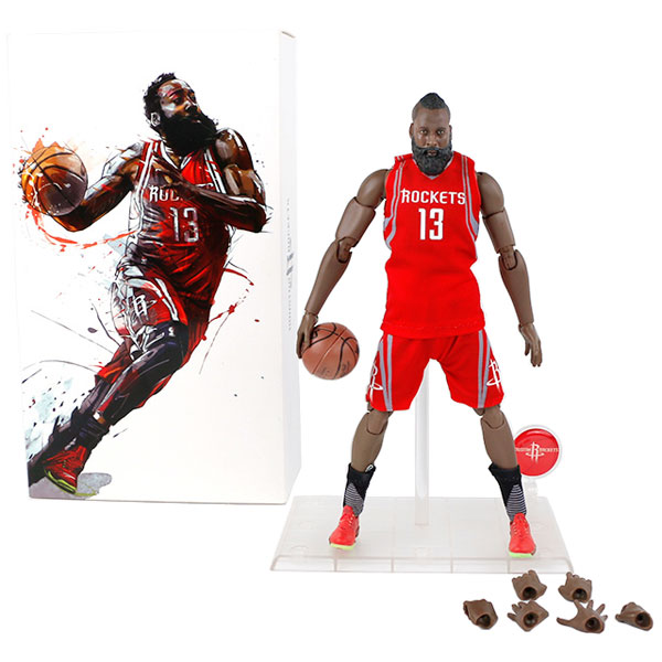Wholesale NBA Star Rockets Harden Doll 1/9 Movable Model Garage Kits Toys