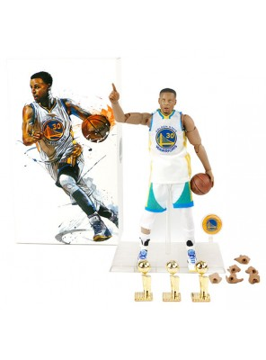 Wholesale NBA Star Stephen Curry Doll And Three Championship Trophy 1/9 Model
