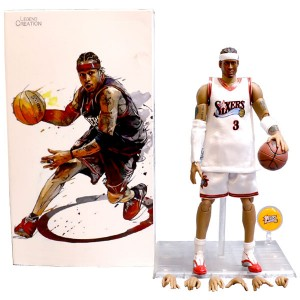 Wholesale NBA Star Sixers Allen Iverson Doll 1/9 Movable Model Garage Kits Toys
