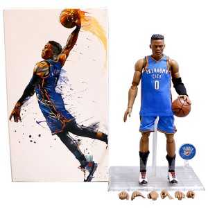 Wholesale NBA Star Thunder Westbrook Doll 1/9 Movable Model Garage Kits Toys
