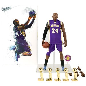Wholesale NBA Star Lakers Kobe Bryant Doll And five Championship Trophy 1/9 Model