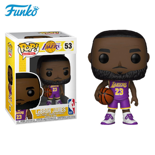 Funko Pop NBA Series 3 Lebron James 53 Lakers Dolls Action Figure Model Toys