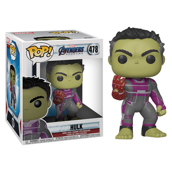 Funko Pop Avengers Endgame Hulk 6 Inch With Gauntlet Dolls Figure Model Toys