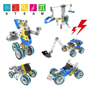 Educational Learning Robot Building Blcoks Car Toys Vehicles Set Gift For Toddlers