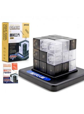 Luban cubic burn your brain cube building blocks with base kids educational toys black