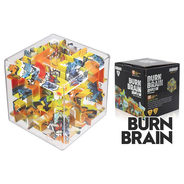 Super brain burn your brain square magic cube labyrinth kids educational toys cartoon