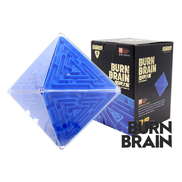 Super brain burn your brain octahedron magic cube labyrinth educational toys blue