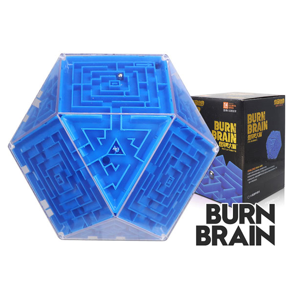 Super brain burn your brain polygonal magic cube labyrinth educational toys blue