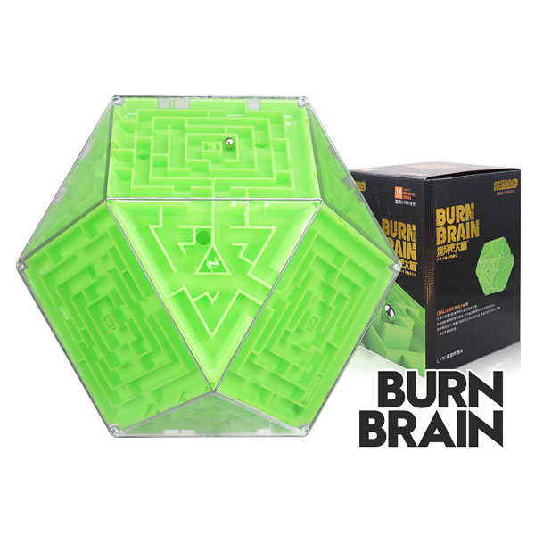 Super brain burn your brain polygonal magic cube labyrinth educational toys green