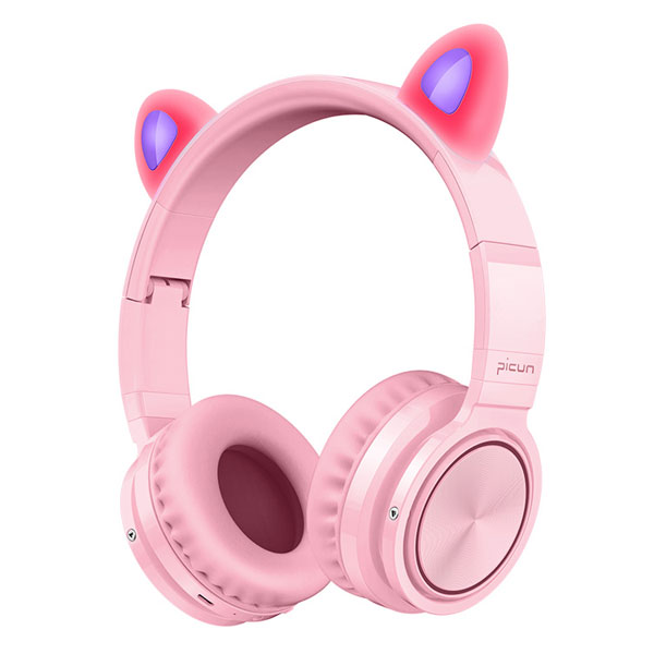 Picun Kids Gift Bluetooth 5.0 Headphones LED light TF Headset Wireless Earphone