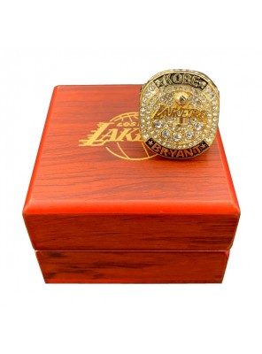 Lakers 2016 Kobe Bryant Emulation Retirement Ring With Wooden Box Gift Collection
