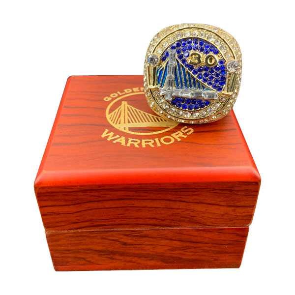 Warriors 2018 Stephen Curry Championship Ring With Wooden Box Gift Collection
