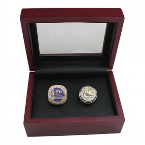 Warriors Kevin Durant 2 Championship Ring Set With Wooden Box Gift Collection