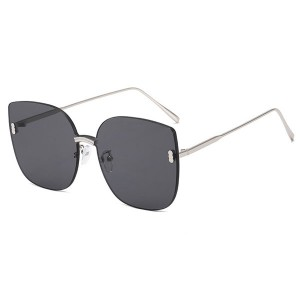 Korean fashion frameless polarized sunglasses modmo celebrity designer sunglasses