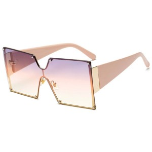 2020 fashion frameless polarized sunglasses women uv400 designer sunglasses