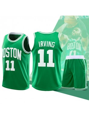 Two Piece Set Kyrie Irving 11 Celtics Basketball Jersey And Pants Green