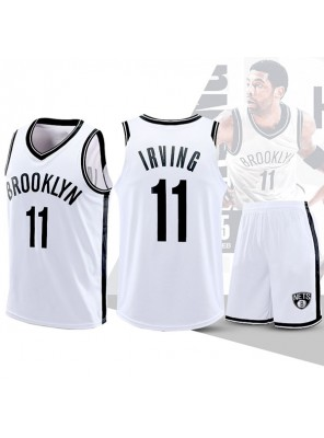 Two Piece Set Kyrie Irving 11 Nets Basketball Jersey And Pants White