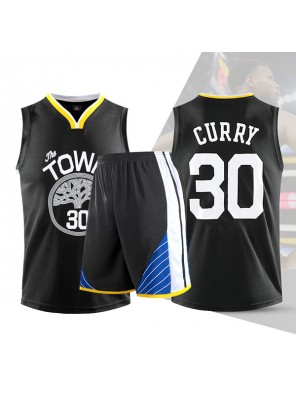 Two Piece Set Stephen Curry Swingman Basketball Jersey Youth City Edition