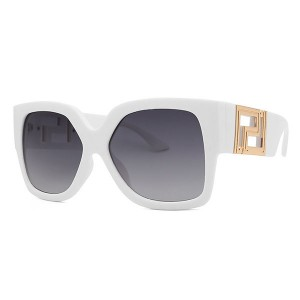 2021 European and American Fashion Luxury Sunglasses For Men And Women White