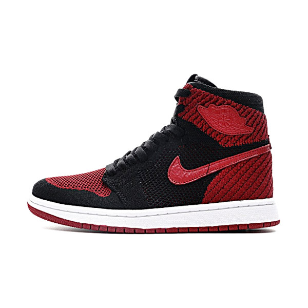 Air Jordan 1 Retro High Flyknit Banned sneaker men's sports shoes black red