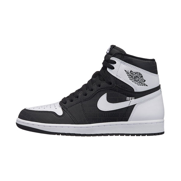 Air Jordan 1 Retro High OG RE2PECT sneaker men's sports shoes black white