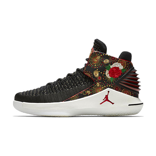 Air Jordan 32 Chinese New Year sneaker men's basketball shoes black red