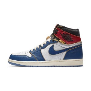 Union x Air Jordan 1 Retro High NRG LA BV Sneaker Men Skate Shoes White Blue