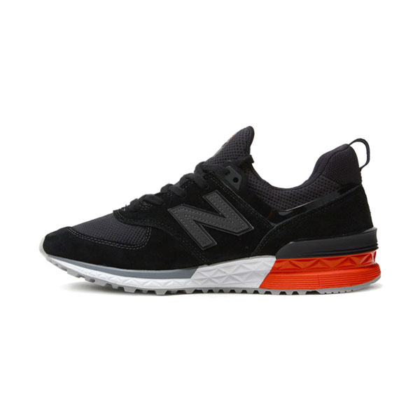 New Balance 574 Fresh Foam in MS574AB men and women running shoes black red