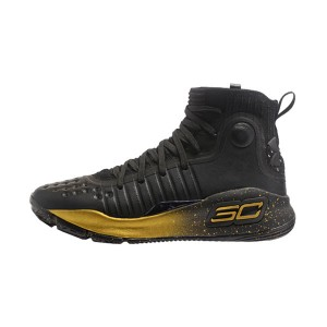 Under Armour Curry 4 Finals Champion sneaker men's basketball shoes black gold