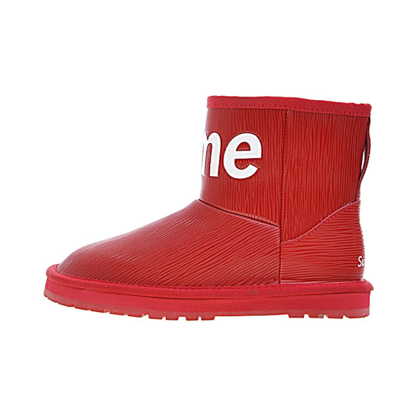 Limited Louis vuitton x Supreme x UGG shoes women's boots collection red white