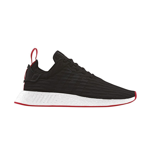 7cb7ce7c6 Adidas Originals NMD R2 Primeknit shoes for womens and mens black red BA7252