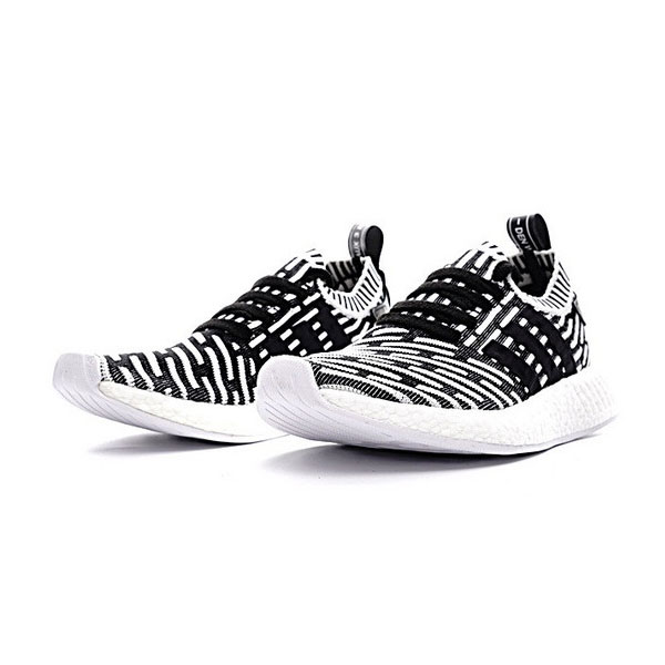 Adidas Originals NMD R2 PK boost shoes mens sneakers striped black white BA7196