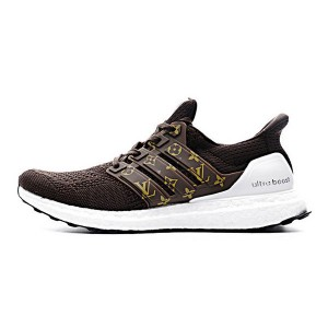 Louis vuitton x adidas ultra boost 3.0 custom sneakers mens running shoes brown