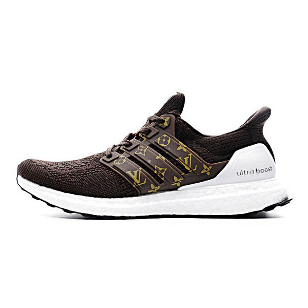 efba650c052f Louis vuitton x adidas ultra boost 3.0 custom sneakers mens running shoes  brown