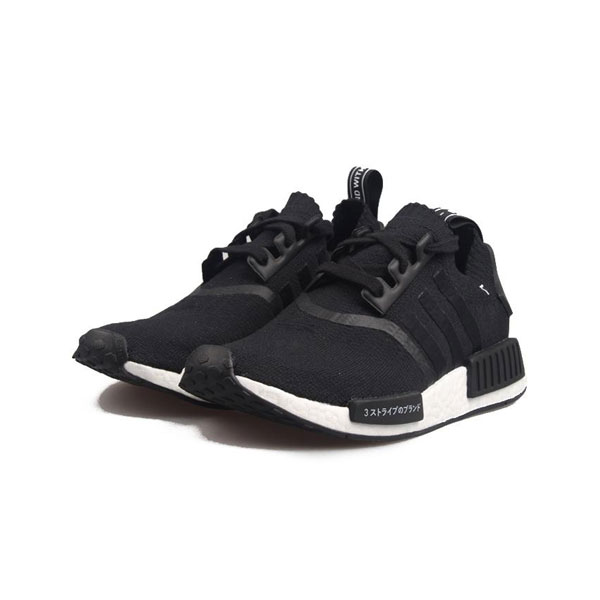 New Adidas NMD R1 Primeknit Black Japan boost womens and mens sneakers