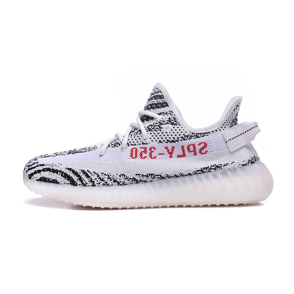 Online buy Adidas Yeezy Boost SPLY-350 V2 white zebra sports shoes limited