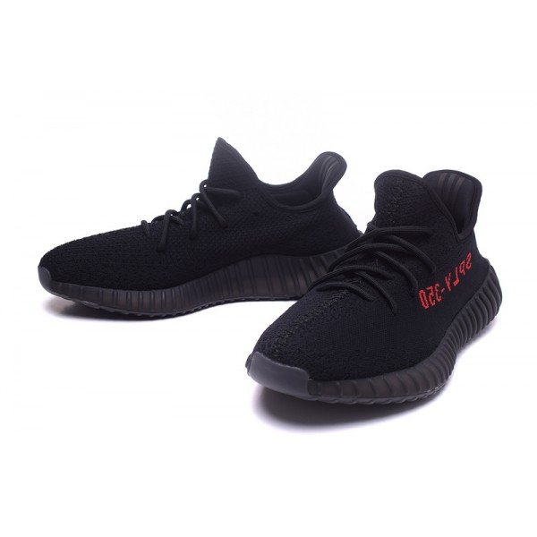 Cheap kanye limited edition adidas yeezy boost 350 V2 black red casual shoes
