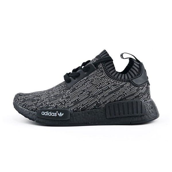 Limited adidas originals nmd r1 primeknit pitch black boost men's sneakers