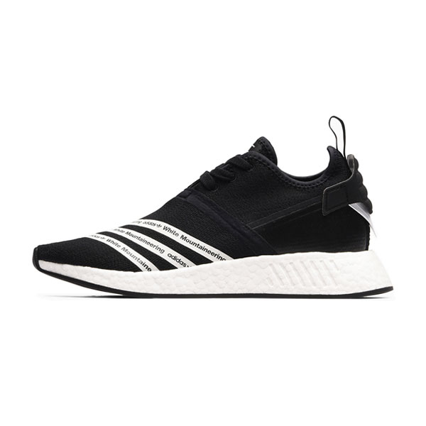 Adidas x white mountaineering nmd r2 pk boost running shoes black white