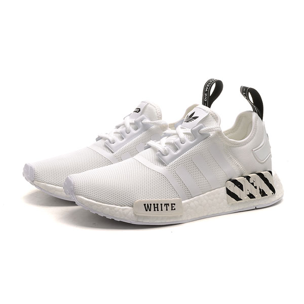 Adidas nmd r1 x Off white pk boost women and men running shoes core white