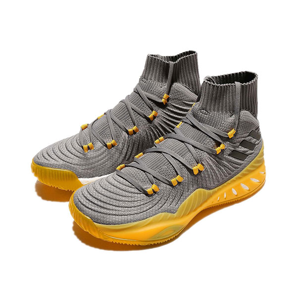Adidas Crazy Explosive 2017 Primeknit high boost basketball shoes solar yellow
