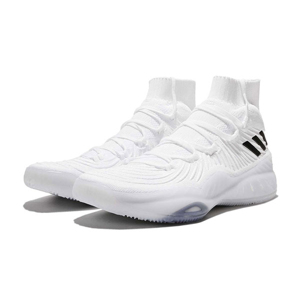 Adidas Crazy Explosive 2017 Primeknit high boost basketball shoes white black