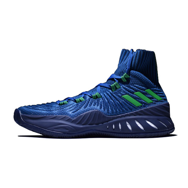 Adidas Crazy Explosive 2017 Primeknit high boost men's basketball shoes blue