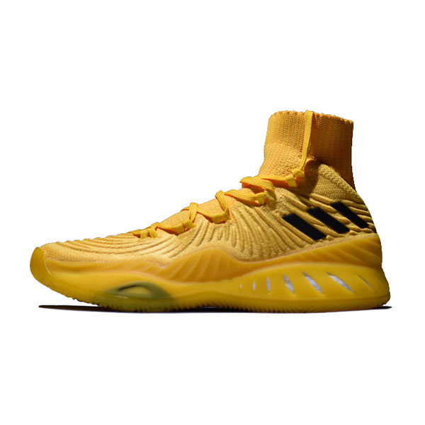 Adidas Crazy Explosive 2017 Primeknit high boost basketball shoes gold yellow