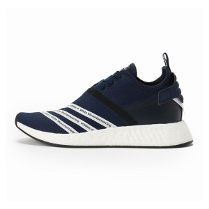 Adidas x white mountaineering nmd r2 pk boost running shoes collegiate navy