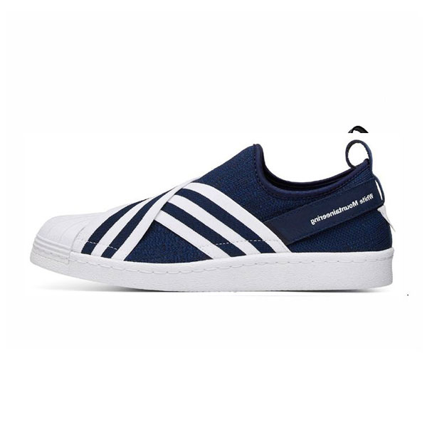 247d7d0270100 White Mountaineering x adidas originals superstar slip-on sneakers blue  white